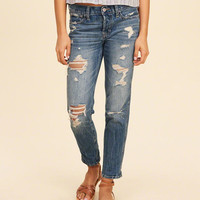 Girls Hollister Low-Rise Slim Boyfriend | Girls Bottoms | HollisterCo.com
