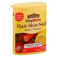 Nature Made VitaMelts Hair/Skin/Nails Tablets - 60 Count