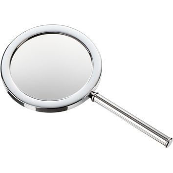 DWBA Round Hand Held Cosmetic Makeup Magnifying Mirror 3x. Chrome