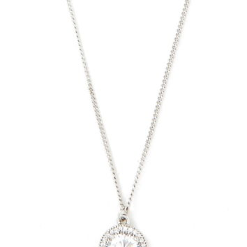 Cubic Zirconia Charm Necklace | Forever 21 - 1000238223