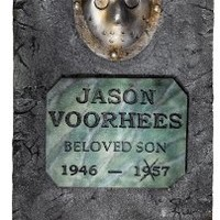 Friday The 13th Jason Voorhees 3' Life Size Tombstone Party Outdoor Lawn Decoration