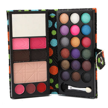 Waterproof Eyeshadow Eyebrow Powder Blush Makeup wallet