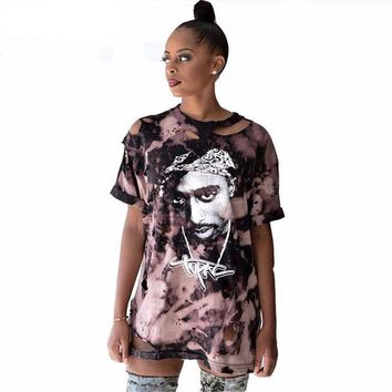 VONE7HQ Distressed Tupac  T shirt   Dress