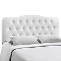 Annabel King Vinyl Headboard in White