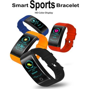 Sporty 80mAh, OLED Smart Bracelet Heart Rate Monitor, Motion Tracking, Waterproof, Sleep Monitor for Men and Women