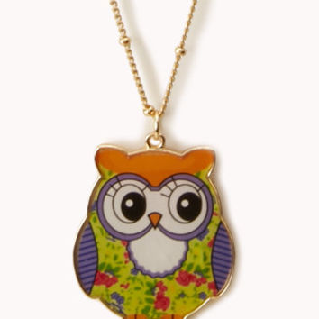Lacquered Owl Necklace | FOREVER 21 - 1051384587