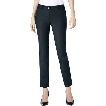 MICHAEL Michael Kors Womens Woven Flat Front Dress Pants