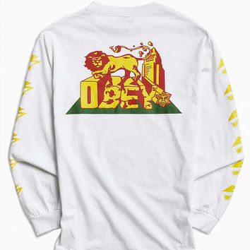 OBEY X Bad Brains Conquering Lions Long Sleeve Tee - Urban Outfitters