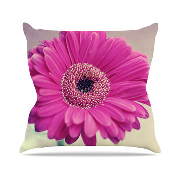 "Nastasia Cook ""Pretty Daisy"" Pink Flower Throw Pillow"