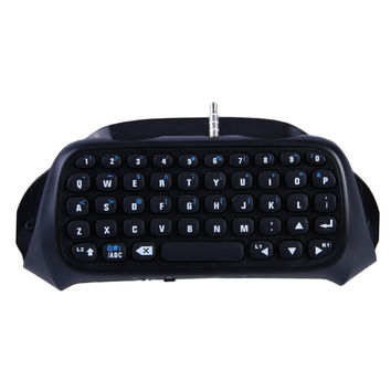 Black 1Pcs Wireless Game Gaming Bluetooth Chatpad Message Keyboard for Sony for PlayStation 4 for PS4 Controller With USB Cable