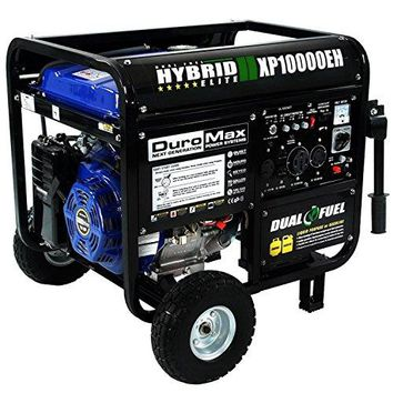 DuroMax XP10000EH 8000 Watts Dual Fuel Powered Portable Generator