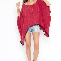 Caliente Cape - Red in Sale at Nasty Gal