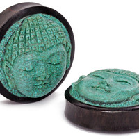 Carved Turquoise Buddha Face Plugs — Plug Club