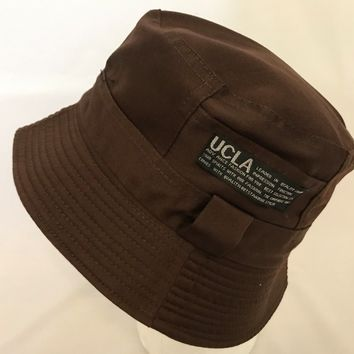 Bucket-Hat-Boonies-Hunting-Fishing-Outdoor-Men-Women Cap-Polyester-UCLA Brown