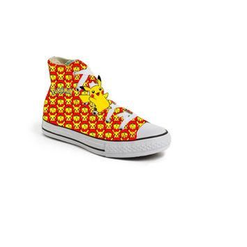 Red Limited edition POKEMON PIKACHU birthday inspired shoe (CONVERSE)