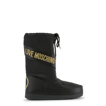 New! Fall/Winter Love Moschino Black & Gold Boots