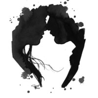 The Kiss, print from original watercolor painting by Jessica Durrant