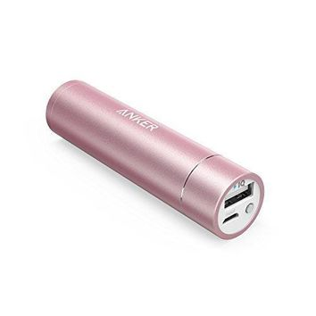 Anker PowerCore+ mini 3350mAh Lipstick-Sized Portable Charger (3rd Generation, Premium Aluminum Power Bank) One of the Most Compact External Batteries, Uses Premium Cells