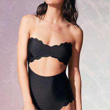 Lolli Shimmer Strapless One-Piece Swimsuit - Urban Outfitters