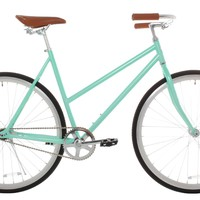 Vilano Women's Classic Urban Commuter Single Speed Bike Fixie Style City Mint Pearl Road Bicycle