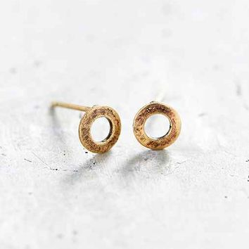 Urban Renewal Hollow Circle Stud Earring- Silver One