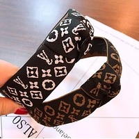 Louis Vuitton LV Newest Fashionable Women Embroidery Knot Hair Band Head Hoop Headband Accessories