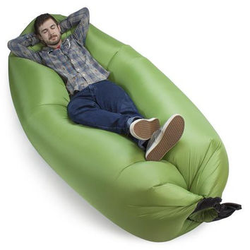 Inflatable Camping Couch, Moss