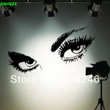 Hot Sale  ZooYoo Wall Sticker Audrey Hepburn 's Eyes /Vinyl Wall Decals / Waterproof Window Car/Home Decor  SM6