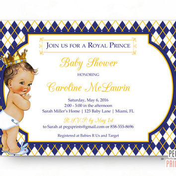 Royal Prince Baby Shower Invitation - Royal Baby Shower Invitation Boy - Royal Prince Baby Shower Invitations PRINTABLE - Little Prince