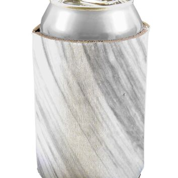 White Marble Pattern Can / Bottle Insulator Coolers All Over Print by TooLoud