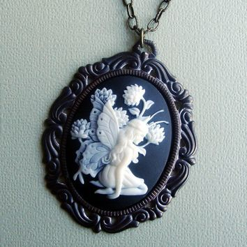 Rhoswen A Lovely Victorian Fairy Cameo Necklace by SimplyChacha