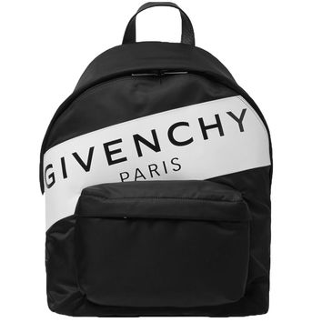 Black and White Logo Backpack by Givenchy