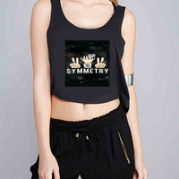 its all about the symmetry death the kid soul eater for Crop Tank Girls S, M, L, XL, XXL *NP*