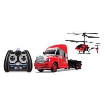 World Tech Toys Mega Hauler 3.5CH Remote Control Helicopter & Truck Combo Pack