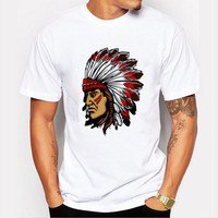 T shirts 2016 Fashion Men's Short Sleeve Brand NEW  American Indian Swag Design Summer male Tops Tees Casual T shirts For Man