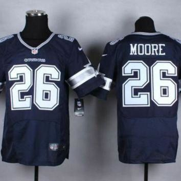 DCCK8X2 Nike Dallas Cowboys #26 Sterling Moore Navy Blue Team Color NFL Elite Jersey