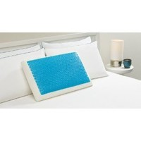 Hyrdraluxe Memory Foam Bed Pillow Color: Cool Cerulean