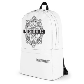 PlugYourHoles Mandala - White - Backpack