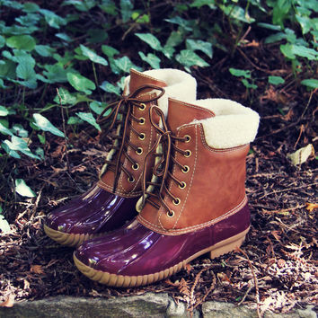 Alpine Pine Duck Boot in Wine