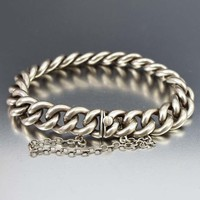 Charming Antique Curb Chain Link Bracelet C. 1880s