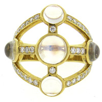 Temple St. Clair Diamond Moonstone Gold Ring