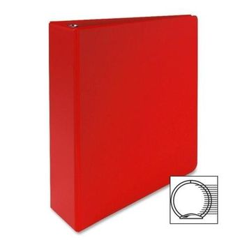 "Sparco Products 3-Ring Binder, 2"" Capacity, 11""x8-1-2"", Red - CASE OF 8"