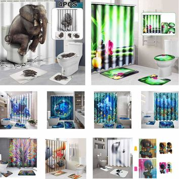 Home & Garden 3d Planets Galaxy 72 Shower Curtain Waterproof Fiber Bathroom Windows Toilet Complete In Specifications Shower Curtains