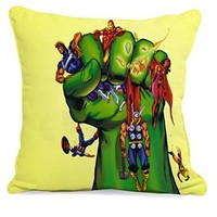Heroes on Hulk Hand Pillow Case (18 x 18 two side)