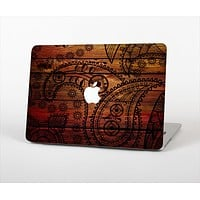 The Tattooed WoodGrain Skin Set for the Apple MacBook Pro 13""