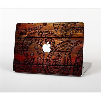 The Tattooed WoodGrain Skin Set for the Apple MacBook Air 13""