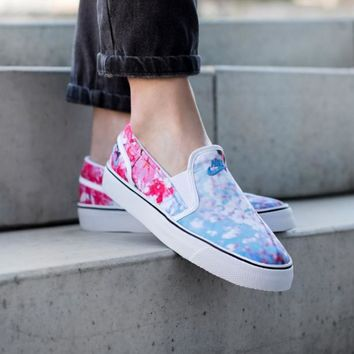 NIKE Toki Slip-On Cherry Blossom Canvas Leisure Shoes