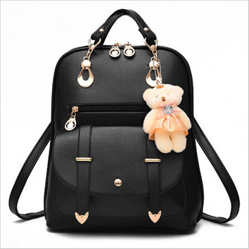 New Women Leather Backpack