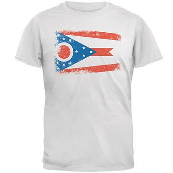 Born and Raised Ohio State Flag Mens T Shirt