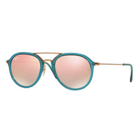 Ray-Ban Mirrored Aviator Flash Sunglasses, Turquoise